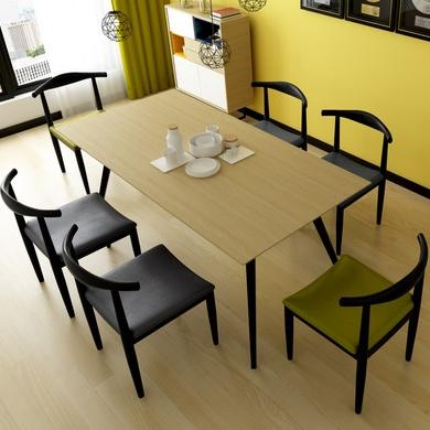 【天伦之乐】小户型餐椅采用优质金属桌脚高档PU 时尚灰色座包  北欧丹麦风情餐桌餐椅