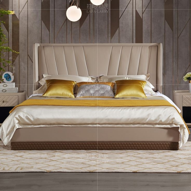【拉帕拉尼】 现代·轻奢 1.8m床 实木+进口头层皮 L-DC023