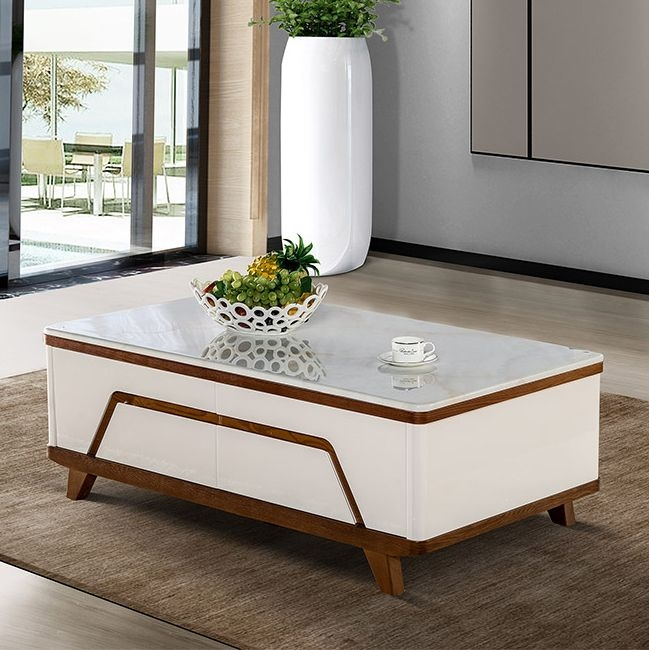 【法莱顿】人造大理石面板 现代风格1.3米茶几