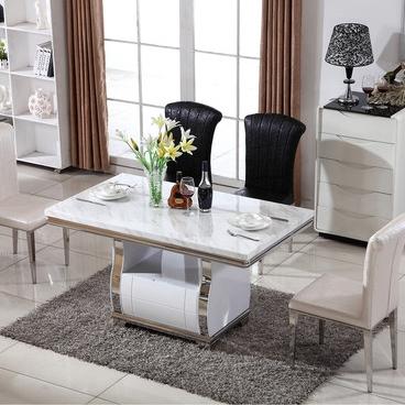 【纳德威】舒适透气皮艺靠背 抗氧化不锈钢脚 现代风格餐椅 2张