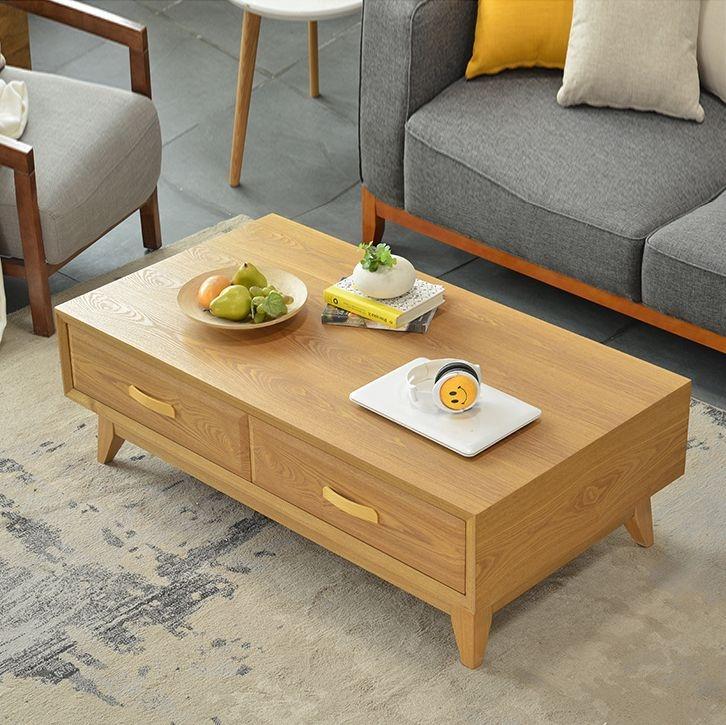 【纳德威】北欧宜家实木客厅茶几 储物原木色客厅家具