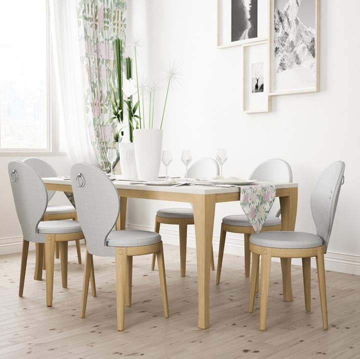 【蜗居时代】 索芙特 餐桌—北欧设计师原创设计 100%实木脚餐桌北欧风格