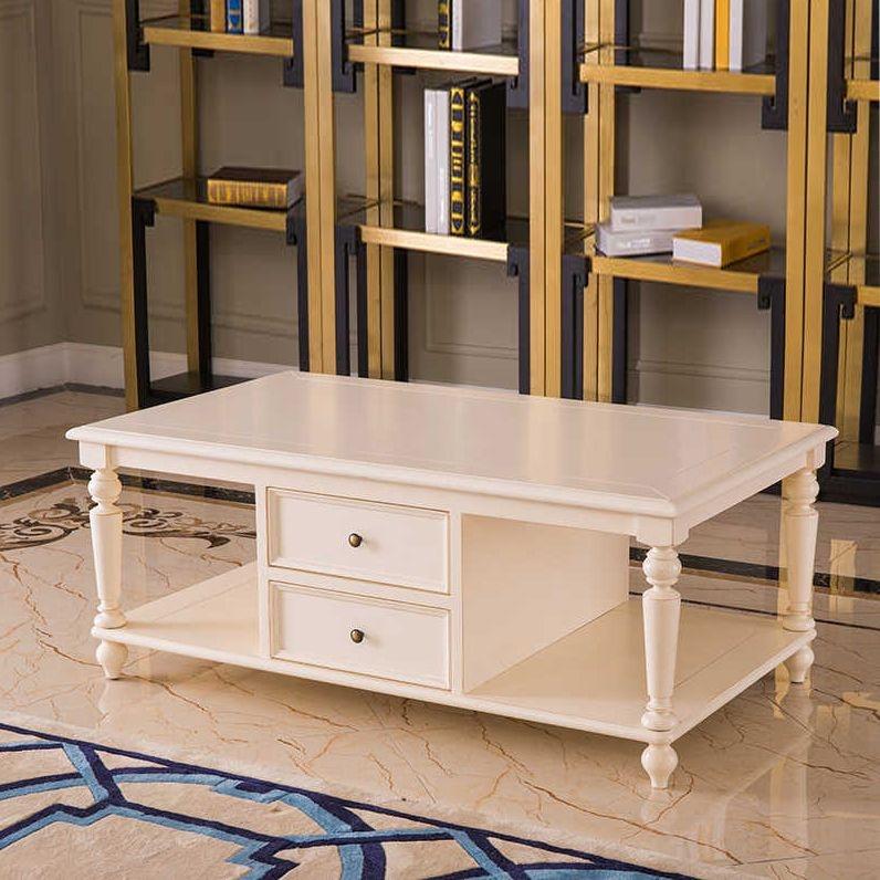 【博洛妮亚】进口桃花芯木 时尚美式 高级木材客厅茶几