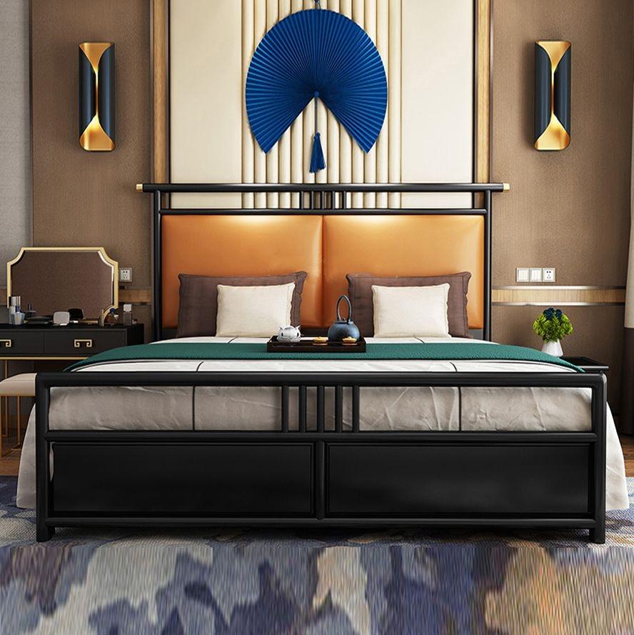 【博洛妮亚】高科技纳米皮软包 桃花芯木主框架 新中式主卧床双人床1.8米