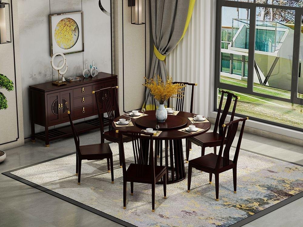 NS2501餐边柜, NS2101圆餐桌, NS2203餐椅.jpg