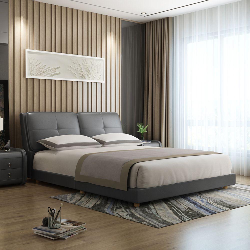 【纳德威】现代风格 人气爆款  纳帕头层优质真皮大床  真皮1.8米床 ND1679