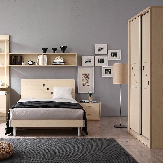 【新悦】左岸阳光系列  现代简约风格白枫木1.2米两滑门儿童衣柜