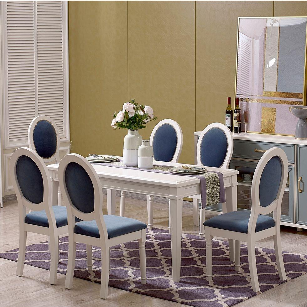 【金柏居】卢塞恩简美系列进口橡胶木轻奢时尚餐桌