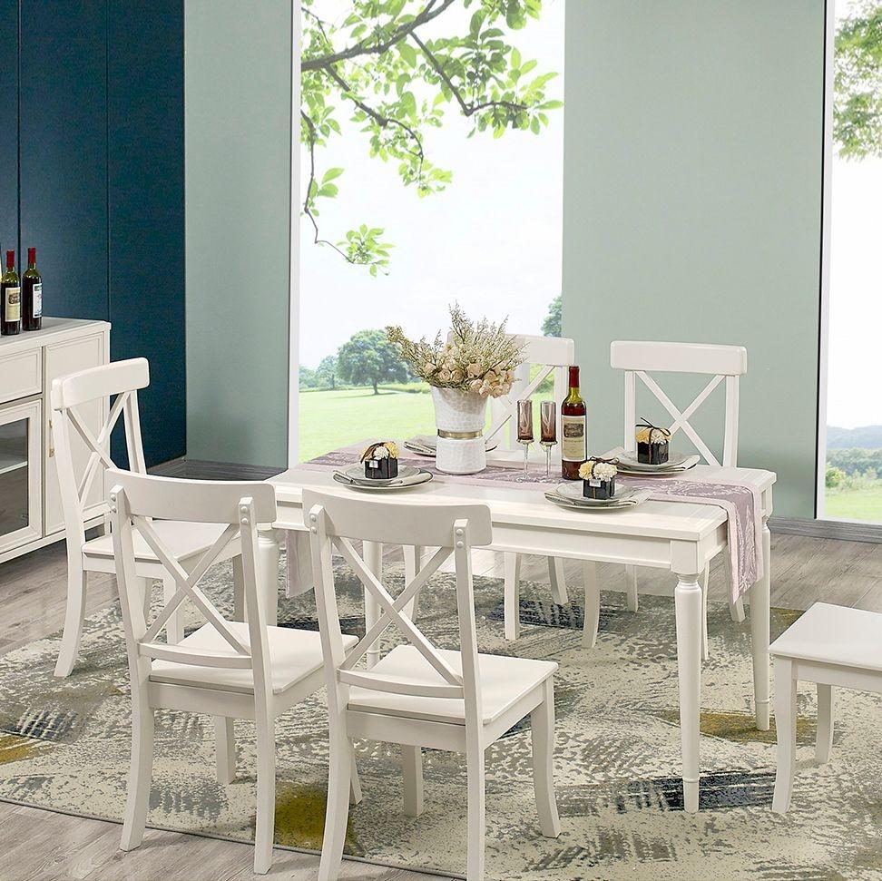 【金柏居】卢塞恩  简美系列  进口橡胶木轻奢时尚餐桌