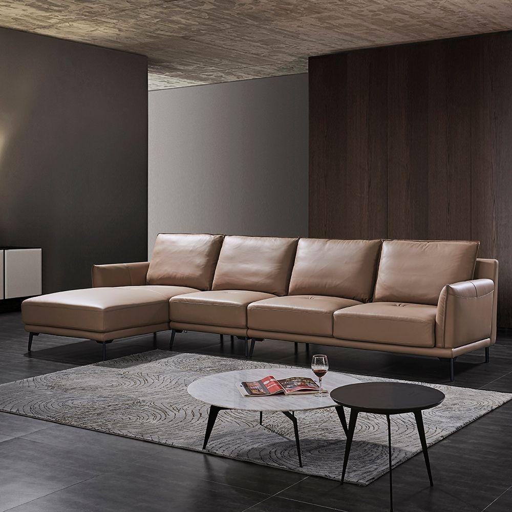 【极之美】极简系列  舒适柔软头层牛皮面料  现代简约风沙发组合 支持定制改面料