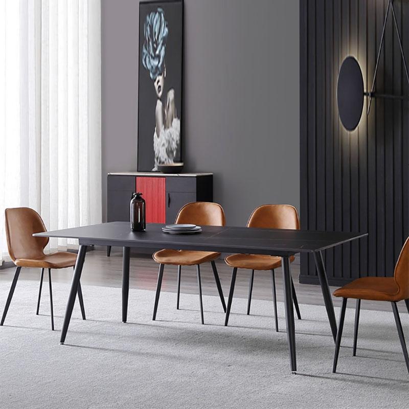 【极之美】极简系列黑色喷砂优质坚固耐磨岩板面板 极简餐桌 现代极简风格 时尚百搭