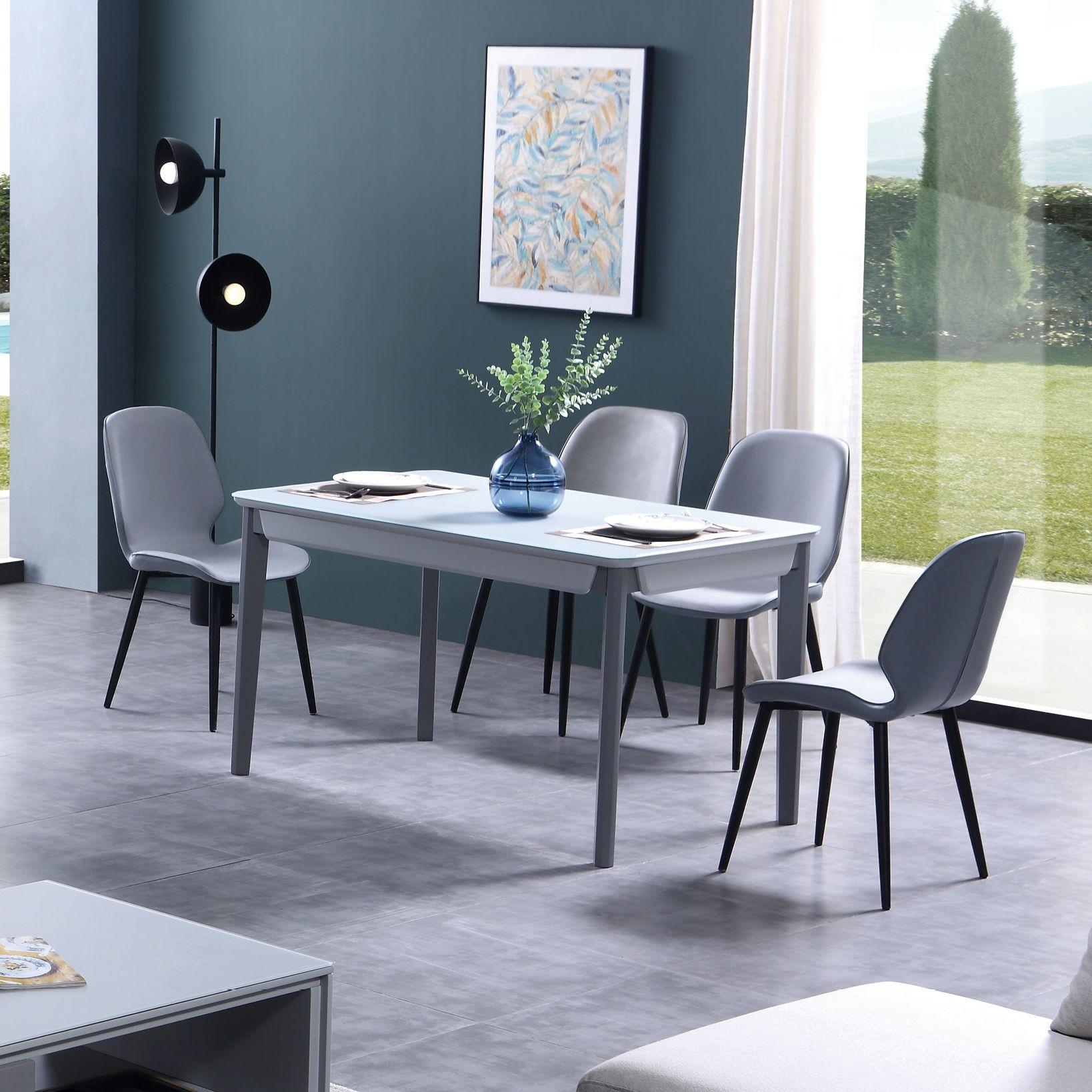 【新红阳】新优美系列  现代极简  橡木实木餐台现代小户形餐桌长方形6人饭桌 餐桌
