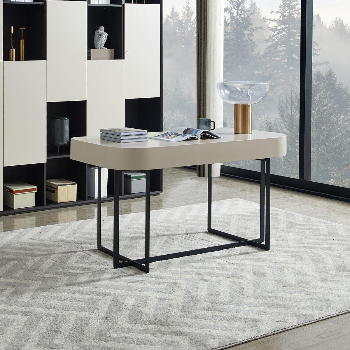 【金柏居】 艾格系列  现代风格创意书桌简约时尚多功能柜子小户型书桌