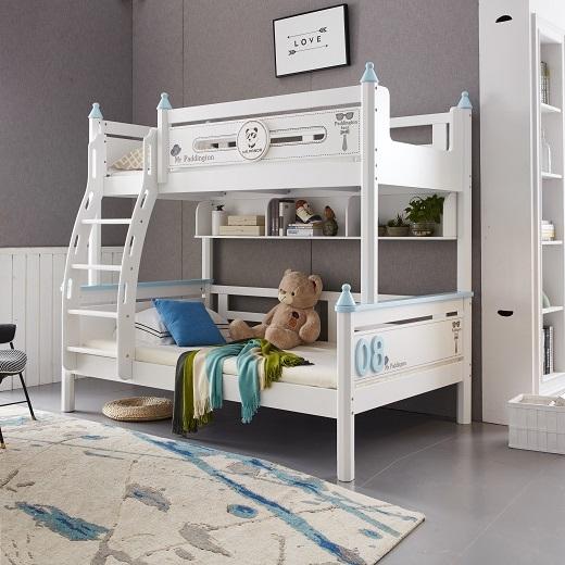 【玉槿之恋】韩式小清新高低床上下床双层床两层儿童床时尚简约橡木上下铺木床