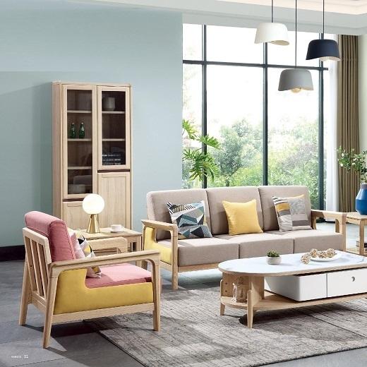 【榕大·尚意】简约现代实木书柜书架置物架北欧落地整墙客厅二门三门任意组合书柜