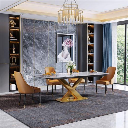 【艾菲家居】实木餐椅皮艺北欧现代餐厅饭店家用靠背中式餐椅吃饭椅子