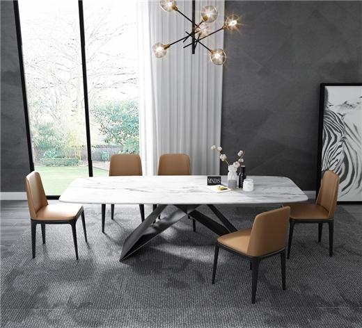 【艾菲家居】 北欧实木餐椅家用现代简约凳子靠背软包椅设计师餐椅