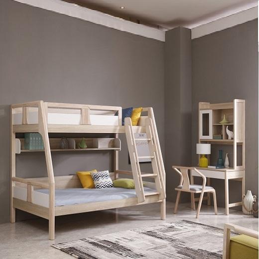 【安琦美居】上下床男孩高低床子母床上下铺双层实木床 简约北欧儿童床