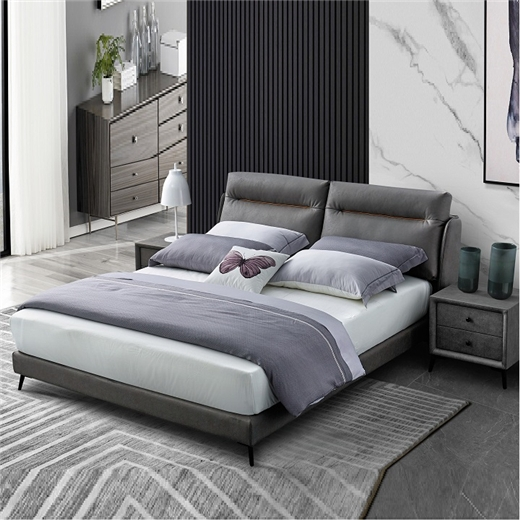 【川盟】舒适科技布面料布艺床简约现代北欧双人床经济型卧室双人床