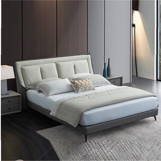 【川盟】北欧极简布艺床主卧1.8米双人婚床现代简约1.5米现代抗污科技布料床