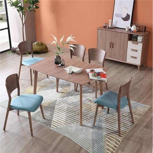 【安琦美居】全实木餐桌家用小户型长方形原木饭桌白蜡木家具餐桌