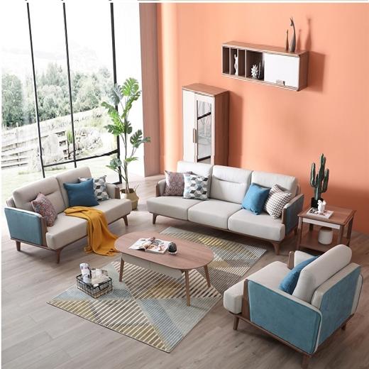 【安琦美居】布艺沙发可拆洗简约现代客厅小户型整装沙发组合三人布沙发
