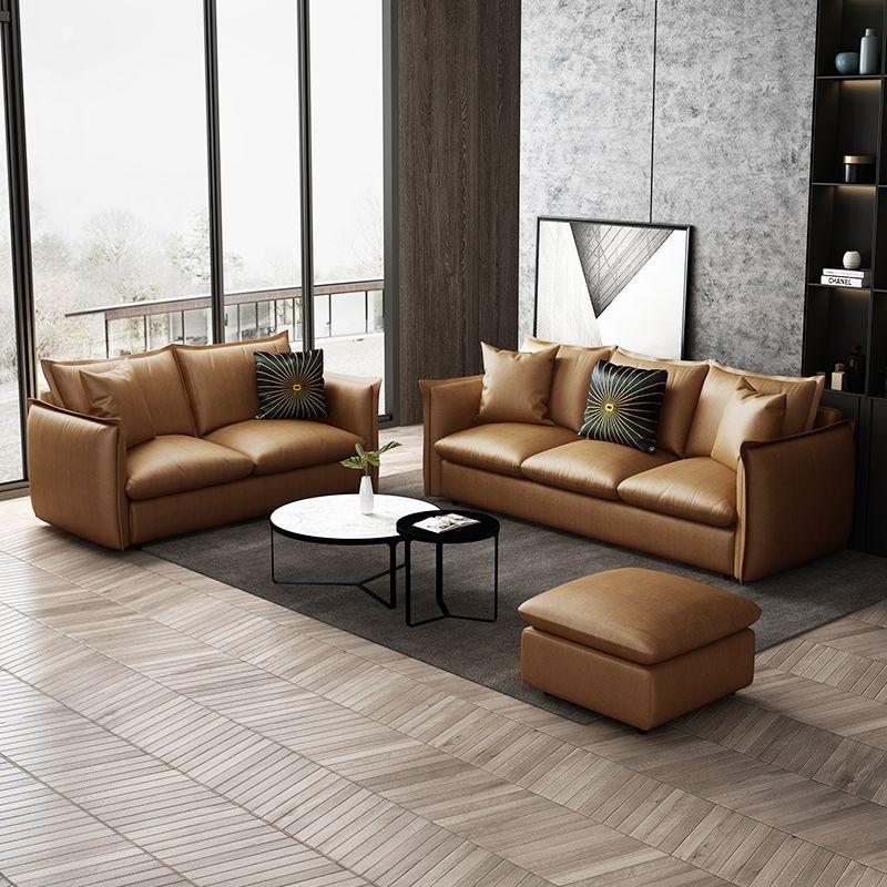 【念窝】时尚简约小户型直排三人位小客厅公寓免洗科技布极简沙发