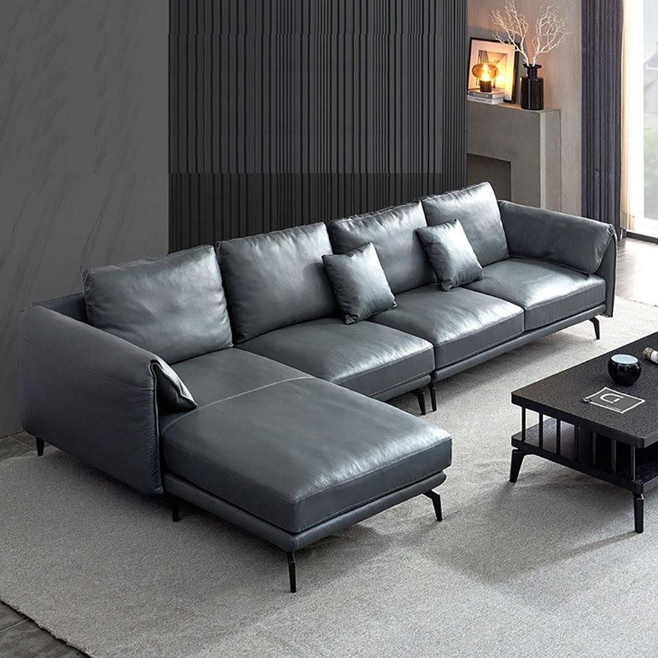 【卡奇尔】个性现代三人位 公寓简约头层牛皮舒适沙发组合(三人位)