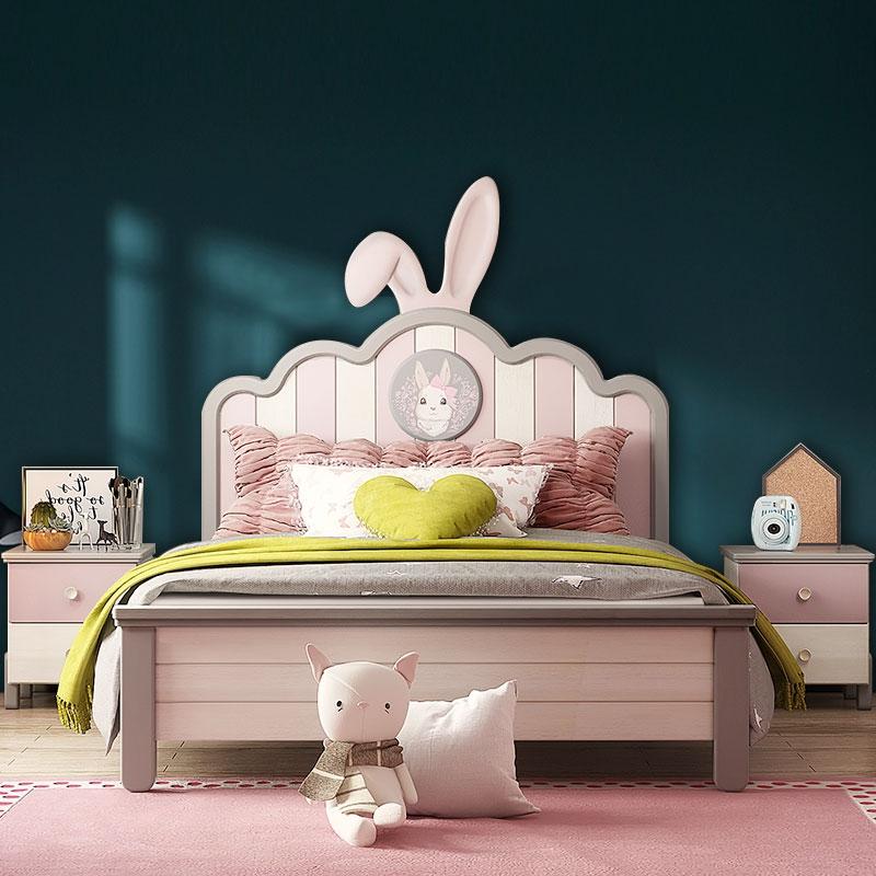 【悦佰家居】美式 憧憬儿童系列  卧室可爱1.2m/1.35m/1.5m乖乖兔床