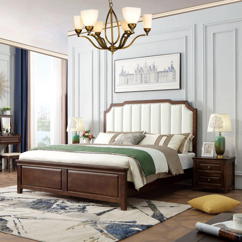 【都市诚品】X系列 简美风格 家用1.8米皮艺床舒适软包靠背婚床
